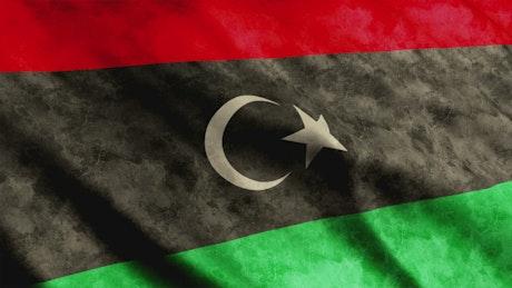 Libya flag, full screen