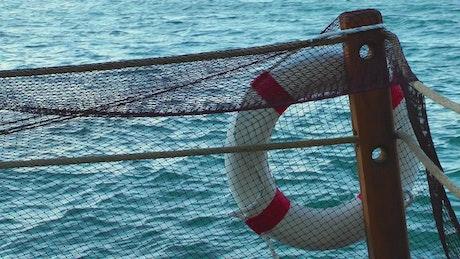 Lifebuoy on a fishing boat