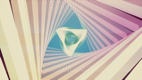 Light triangles with flickering trail