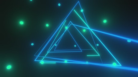 Light triangles with illuminated dots around