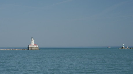 Lighthouse at the Chicago navy pier