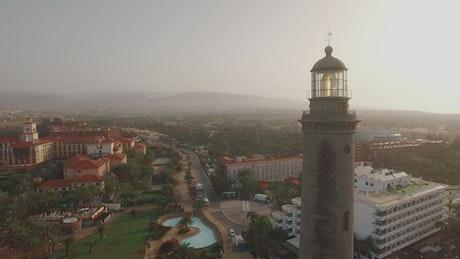 Lighthouse turning slowly