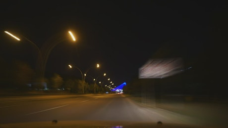 Lights and traffic on the city's roads