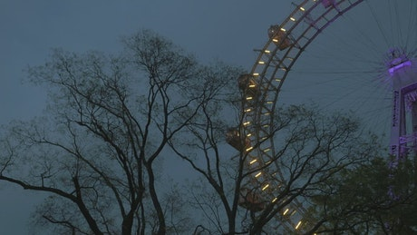 Lights around a Ferris Wheel