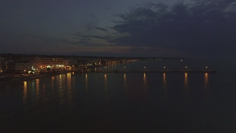 Lights around the waterfront