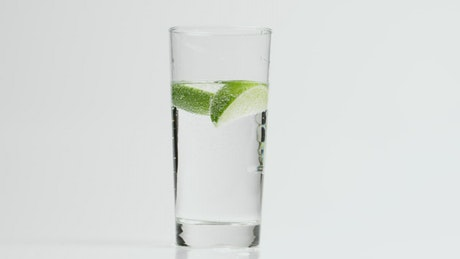 Lime in a sparkling drink