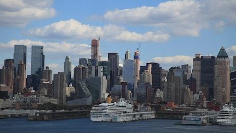 Lines of buildings in New York