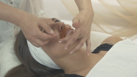Lip waxing at a Beauty Salon