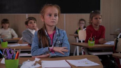Listening to a teacher in class