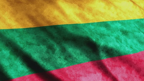 Lithuania flag with faded texture