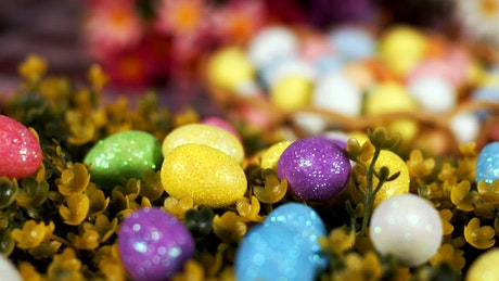 Little colored easter eggs