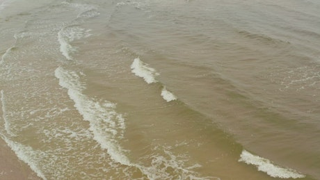 Little waves coming ashore