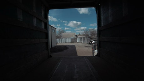 Loading a cargo truck