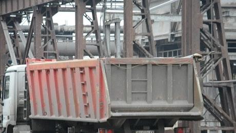 Loading scrap into a truck
