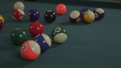 Loading up a pool table
