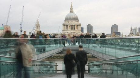 London Millennium Bridge view