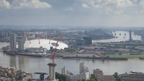 London River seen from far away