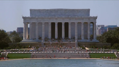 Looking across the Lincoln Memorial