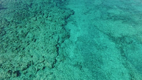 Looking across the sea in turquoise waters