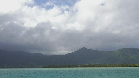 Looking back towards the island