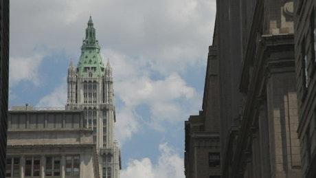 Looking between buildings in NYC
