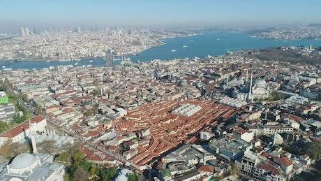 Looking far across Istanbul