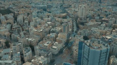 Looking out across Tel Aviv,
