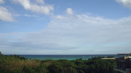 Looking out towards the Caribbean Sea