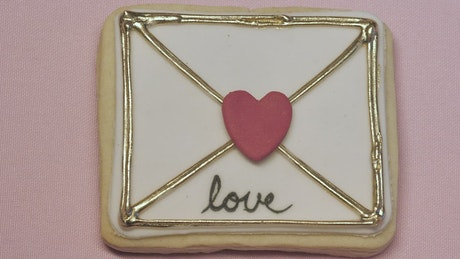 Love letter decorated cookie