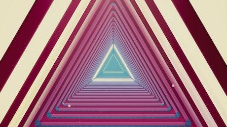 Luminous triangle tunnel