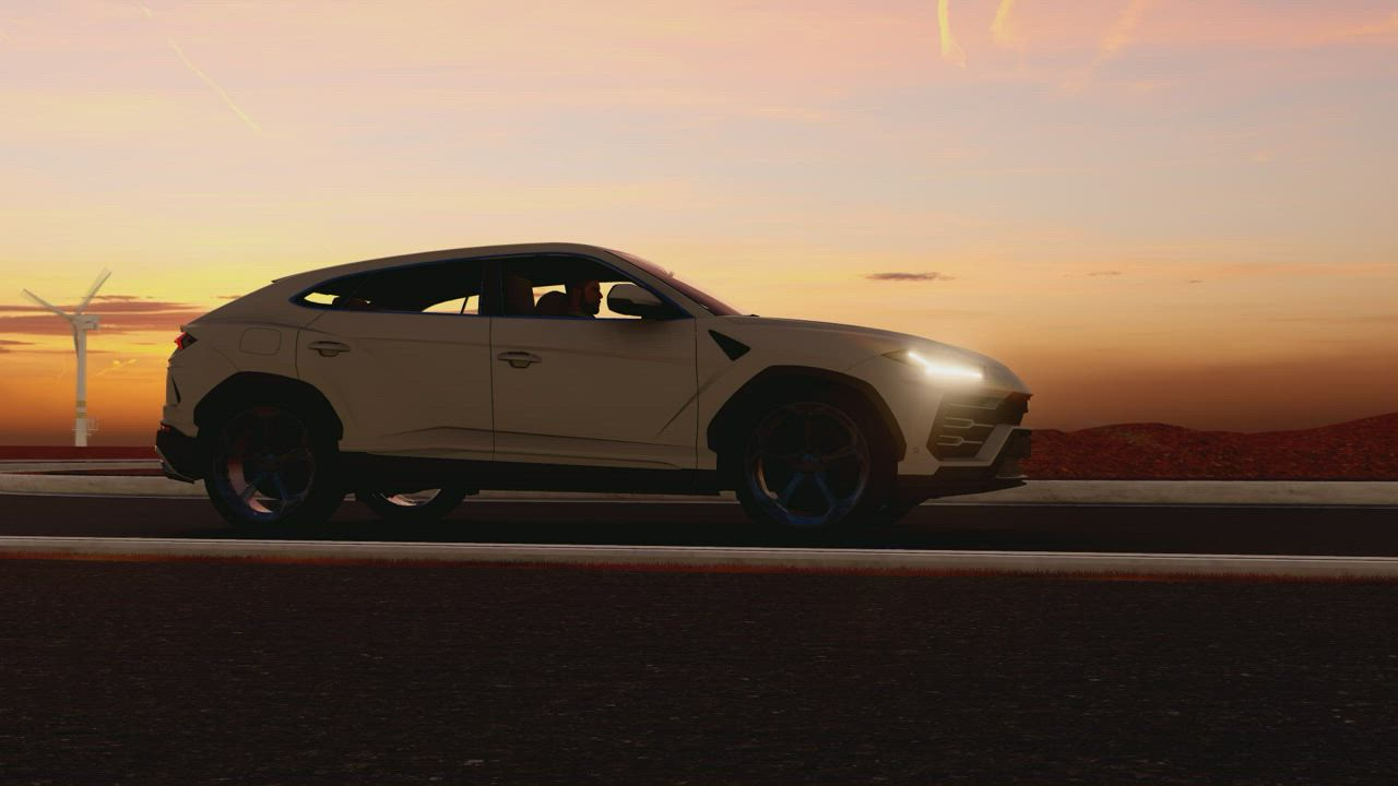 Luxury Suv Traveling At Dusk Free Stock Video Mixkit
