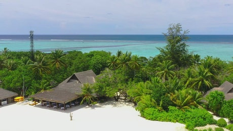 Luxury tourist beach