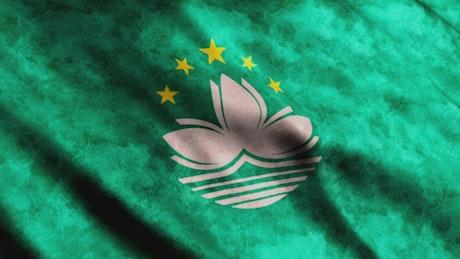 Macau 3D render flag