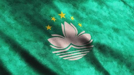 Macau faded flag in full screen