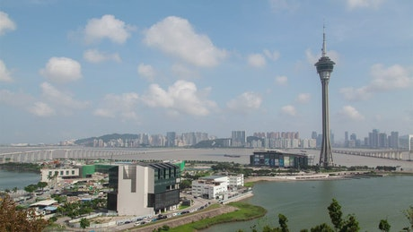 Macau tower and the cityscape