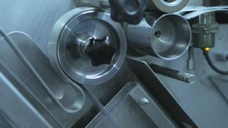 Machinery moving close up