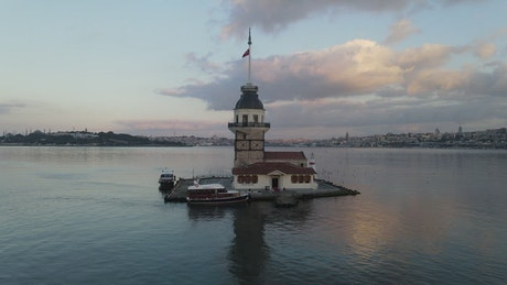 Maiden Tower, aerial spinning shot