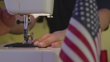 Making an American flag