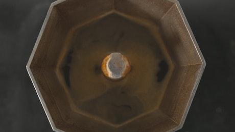 Making coffee in a Moka Pot