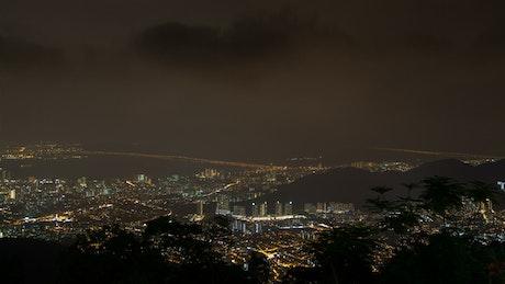 Malaysia Penang cityscape at night