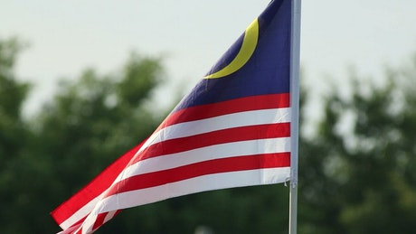 Malaysian flag in the breeze