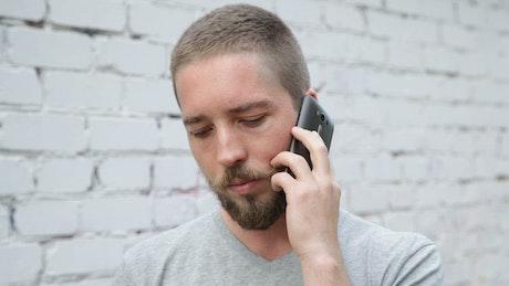 Man chatting on his phone