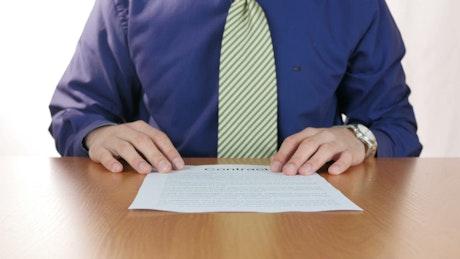 Man destroys contract
