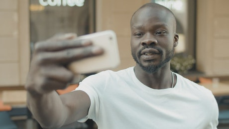 Man gets emotional on mobile video call