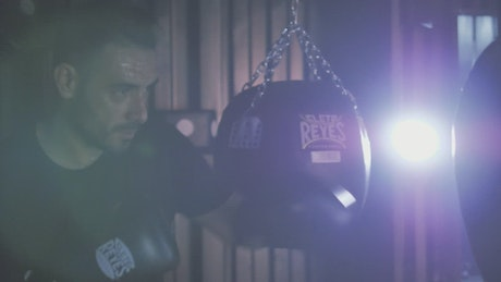 Man training with a punch bag