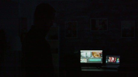 Man uses futuristic mobile app to turn on the lights