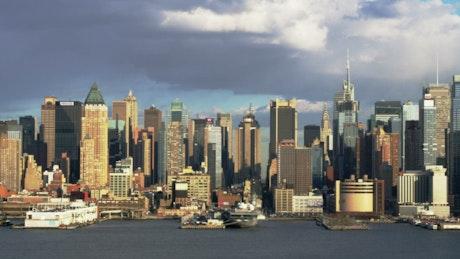 Manhattan before a rain storm