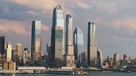 Manhattan building skyline