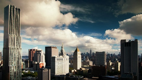 Manhattan city, time-lapse