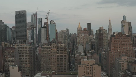 Manhattan Skyline with Buildings and Skyscrapers